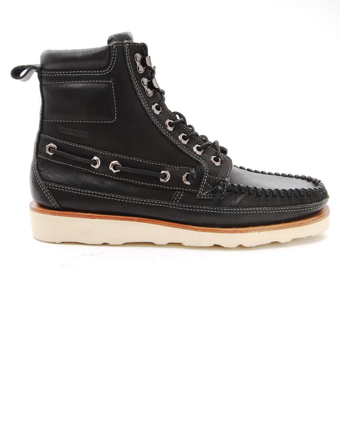 sebago shoreham black boots in black for lyst