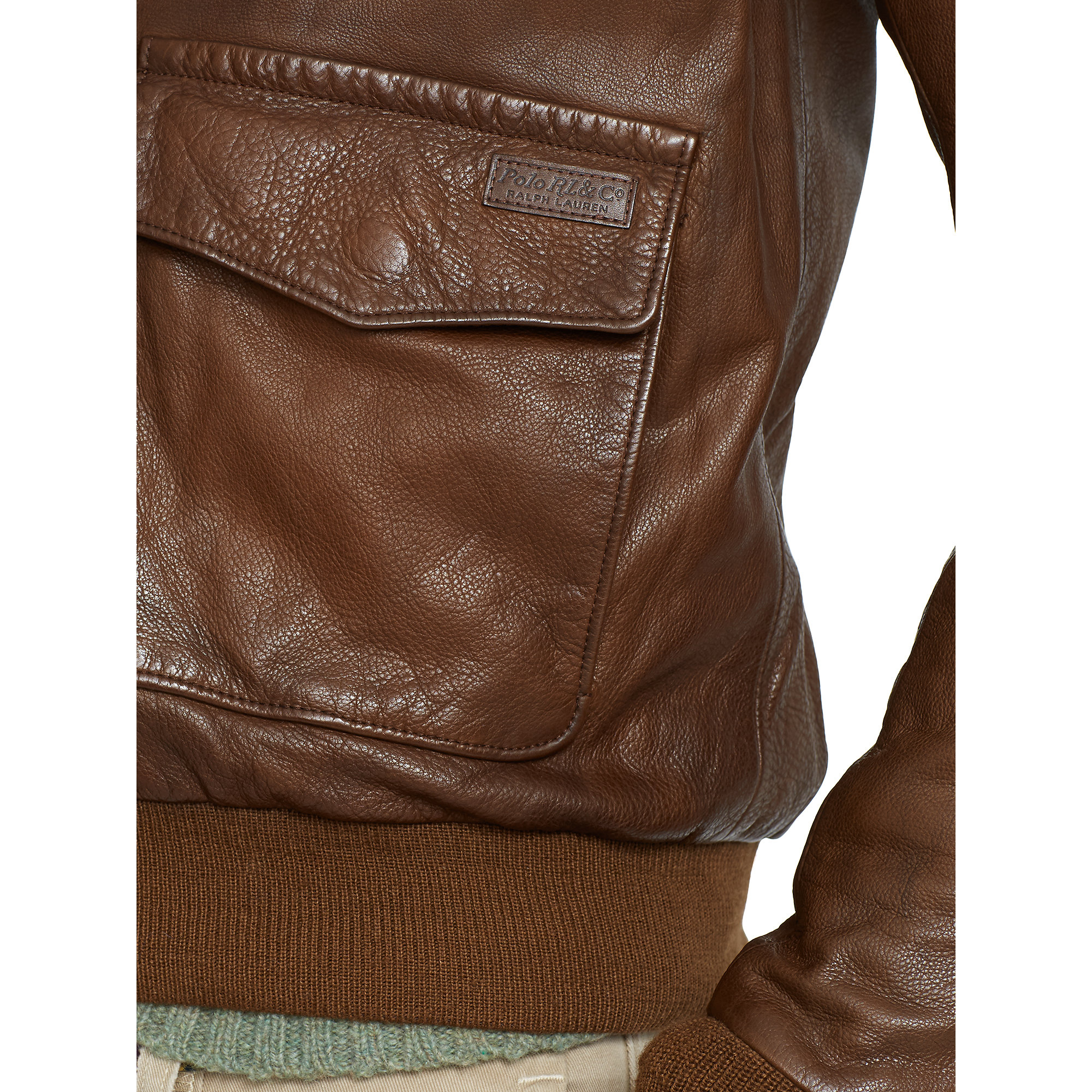 8749847256f1 Lyst - Polo Ralph Lauren Leather Farrington A2 Jacket in Brown for Men