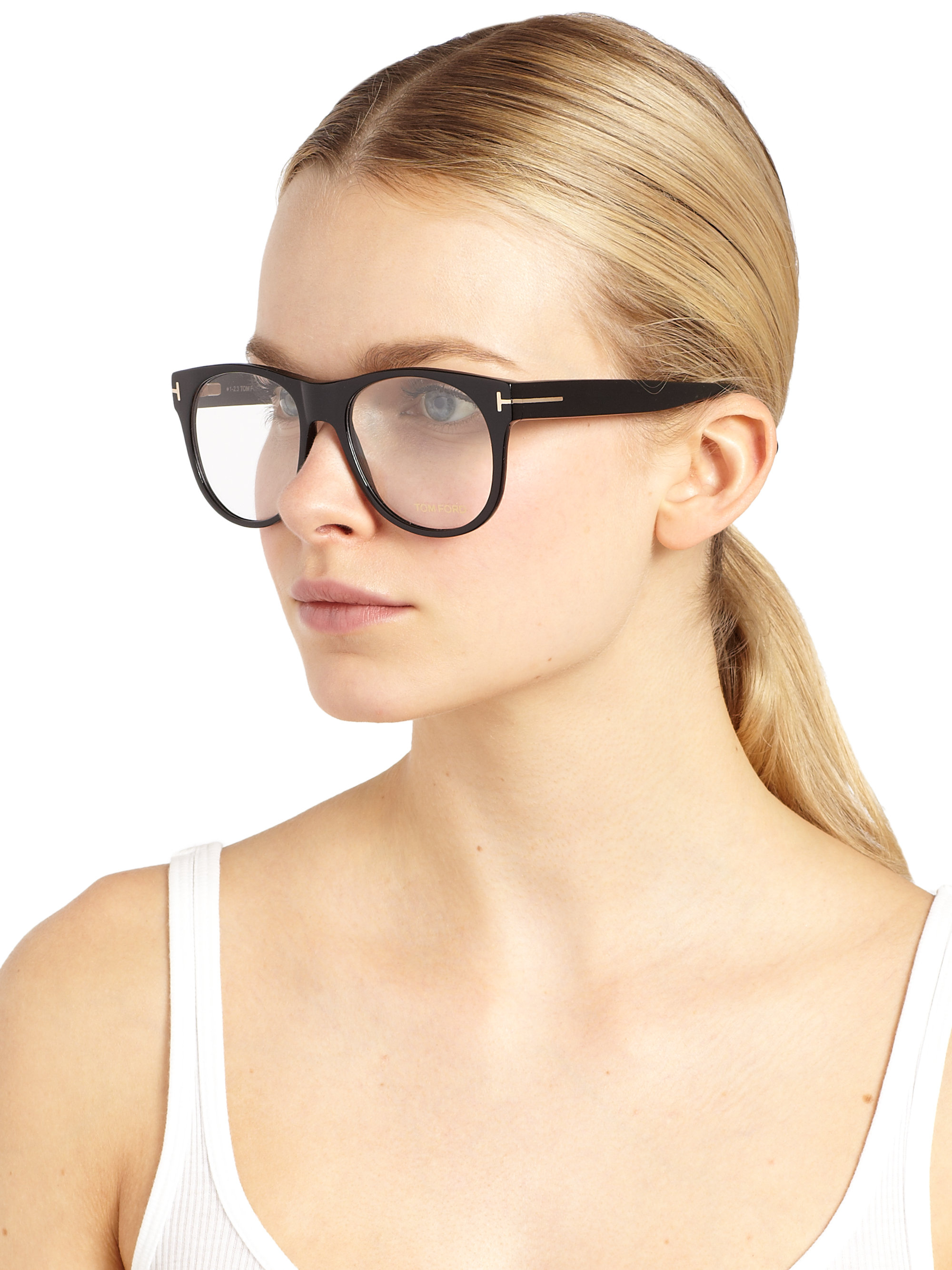 Tom Ford Oversized Sunglasses  tom ford oversized optical glasses in black lyst