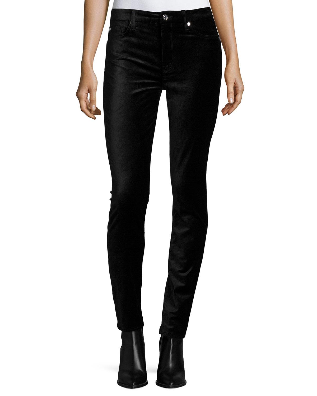 7 for all mankind The High-waist Velvet Skinny Jeans in ...