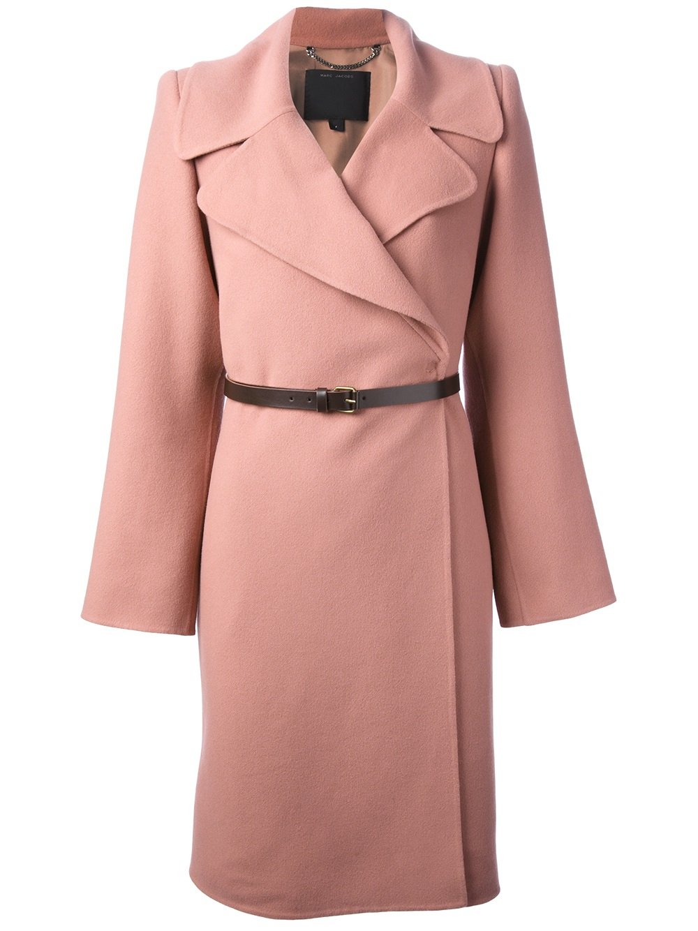 Marc jacobs Belted Coat in Pink | Lyst