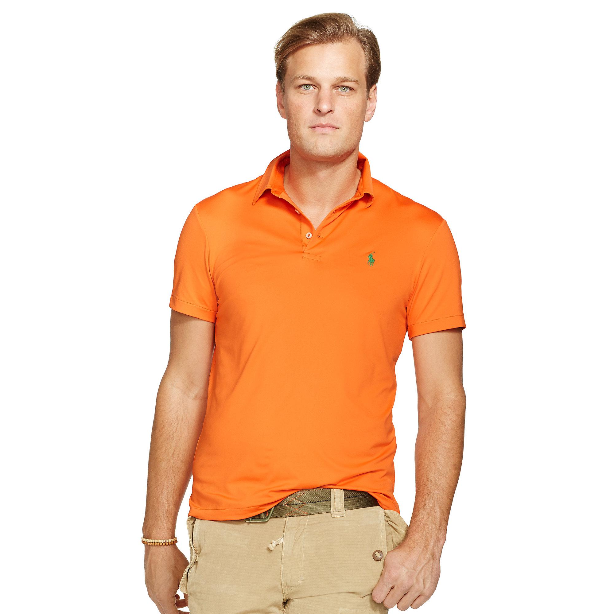 Ralph Lauren Performance Polo Shirt In Orange For Men Lyst