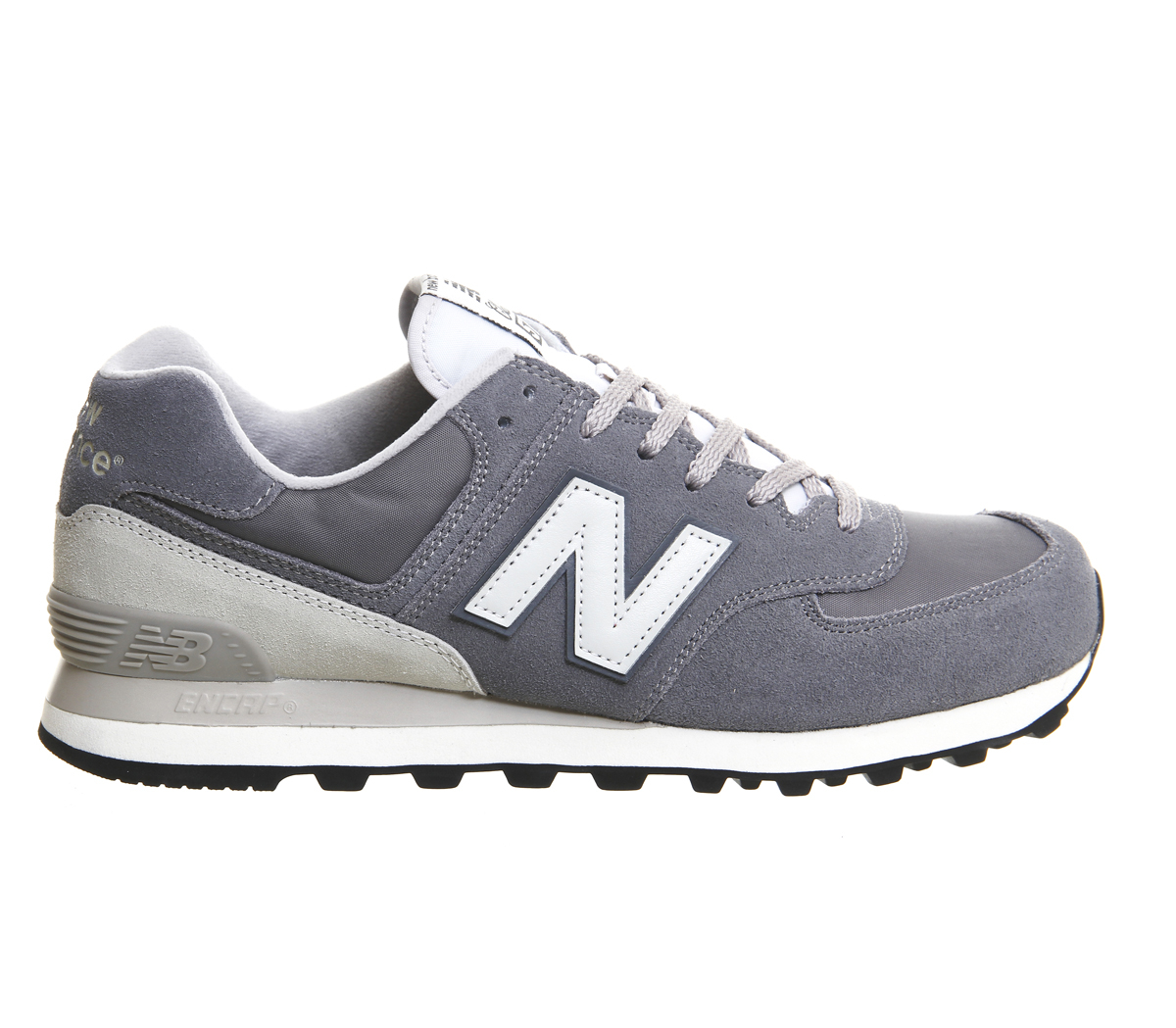 new balance m574 trainers in gray grey save 36 lyst. Black Bedroom Furniture Sets. Home Design Ideas