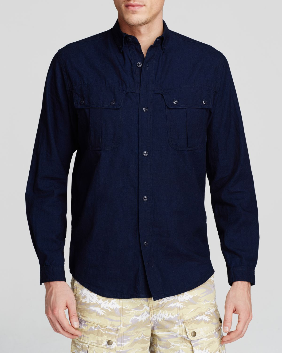 Lyst Barbour Peak Woven Button Down Shirt Slim Fit In