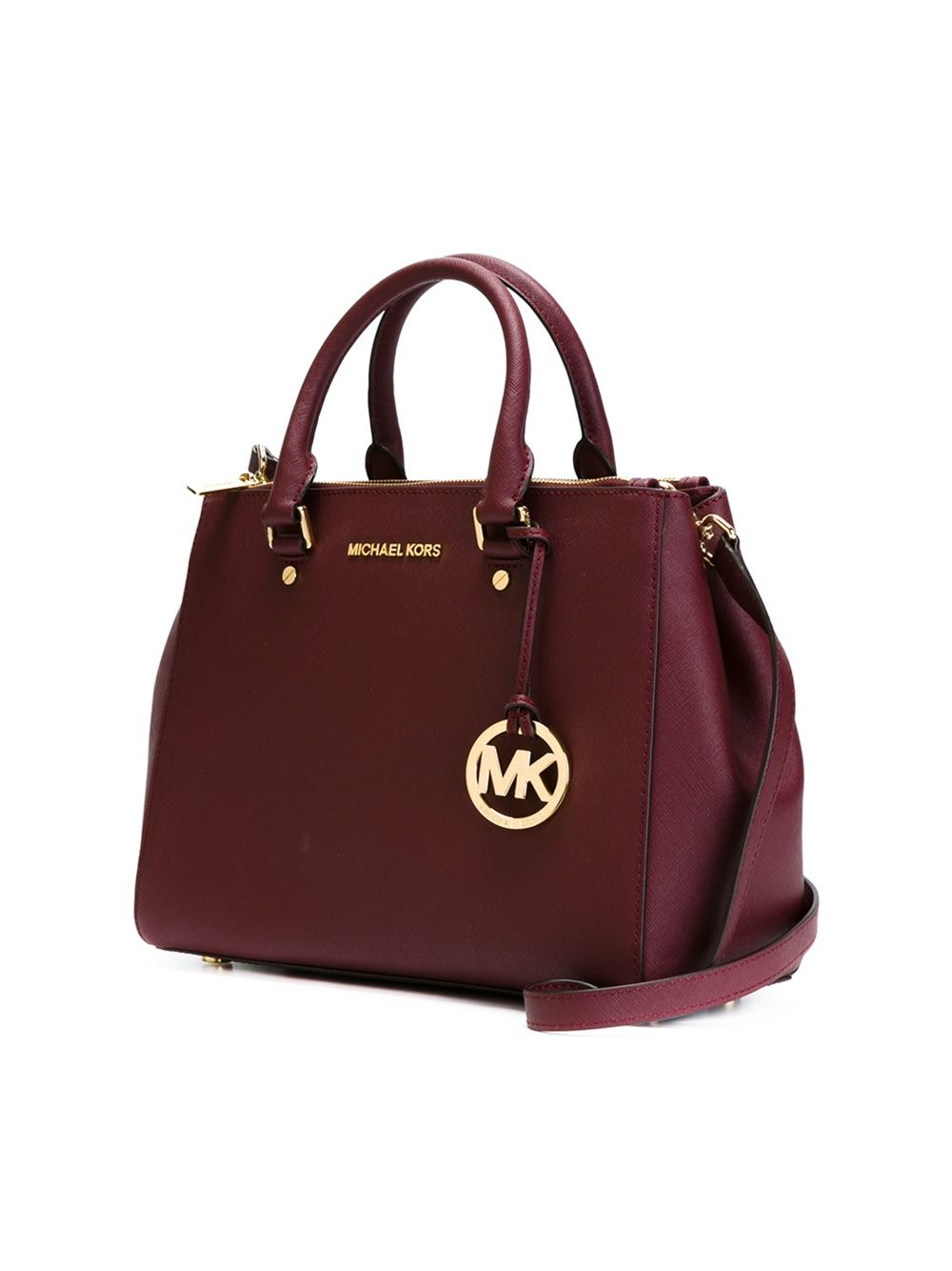 6e54ba657656 ... Lyst - Michael Michael Kors Sutton Tote Bag in Red ...