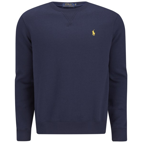 Polo ralph lauren crew sweater gray cardigan sweater for Crew neck sweater with collared shirt