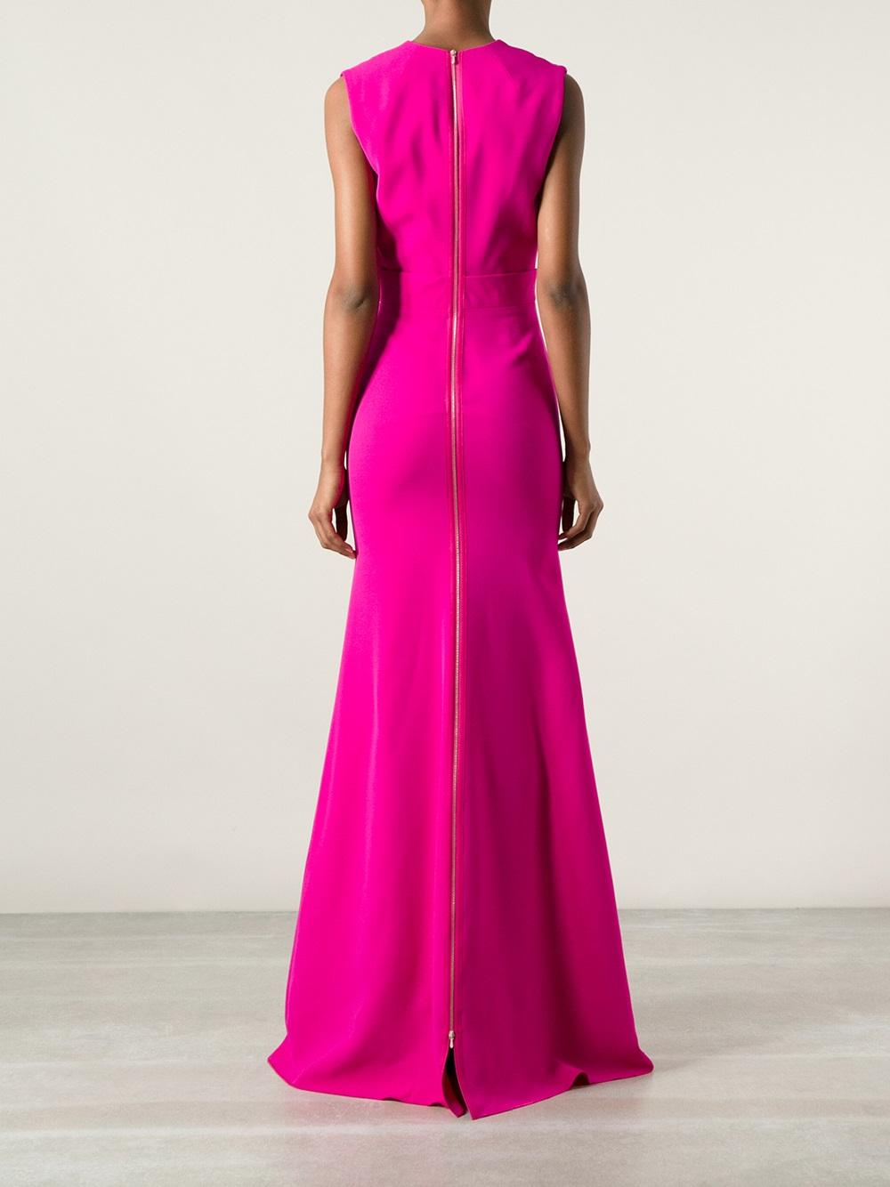 Victoria Beckham Evening Dress In Pink Amp Purple Purple