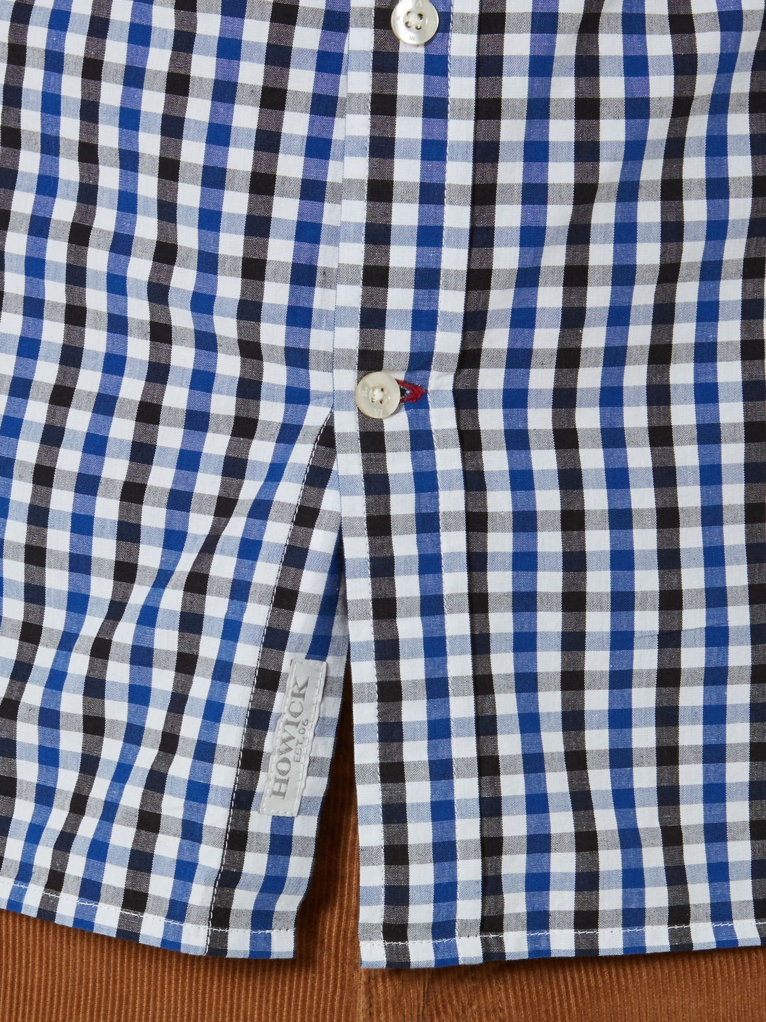 Howick Cotton Columbia Check Shirt in Blue for Men