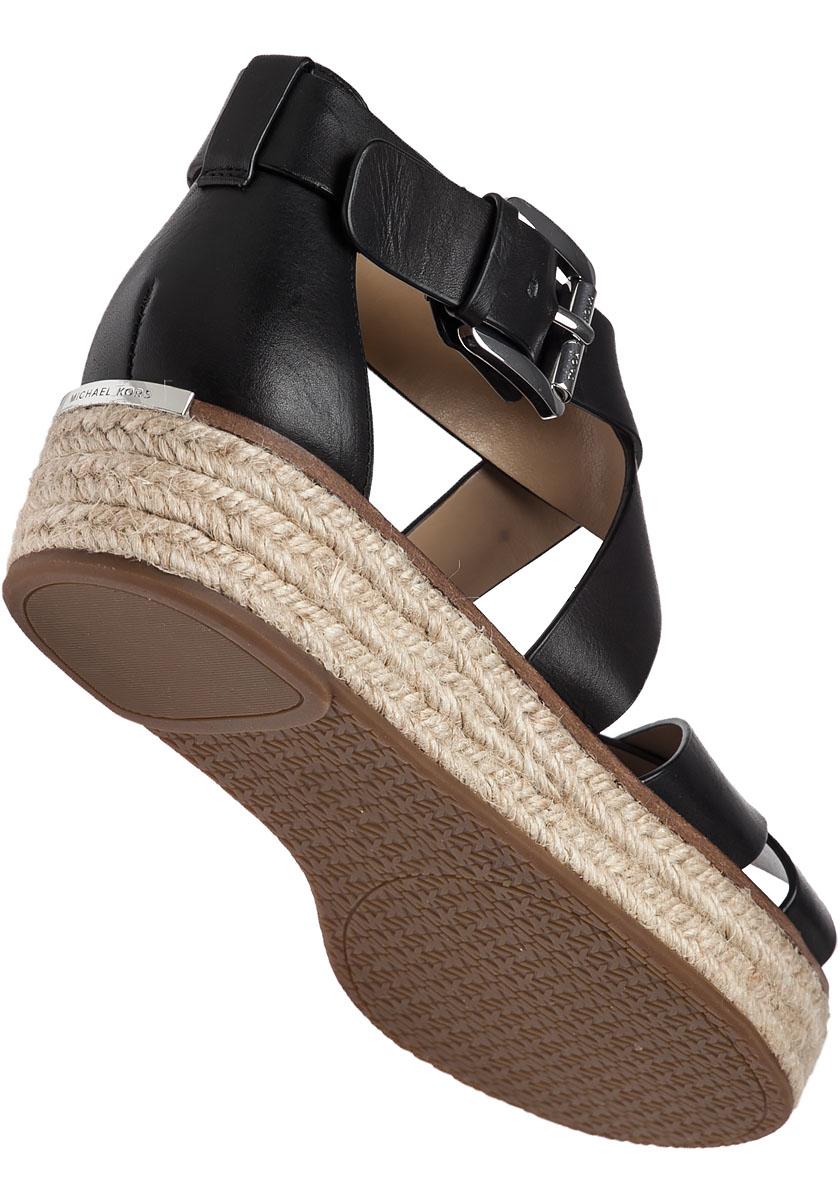 Michael Michael Kors Darby Leather Platform Sandals In