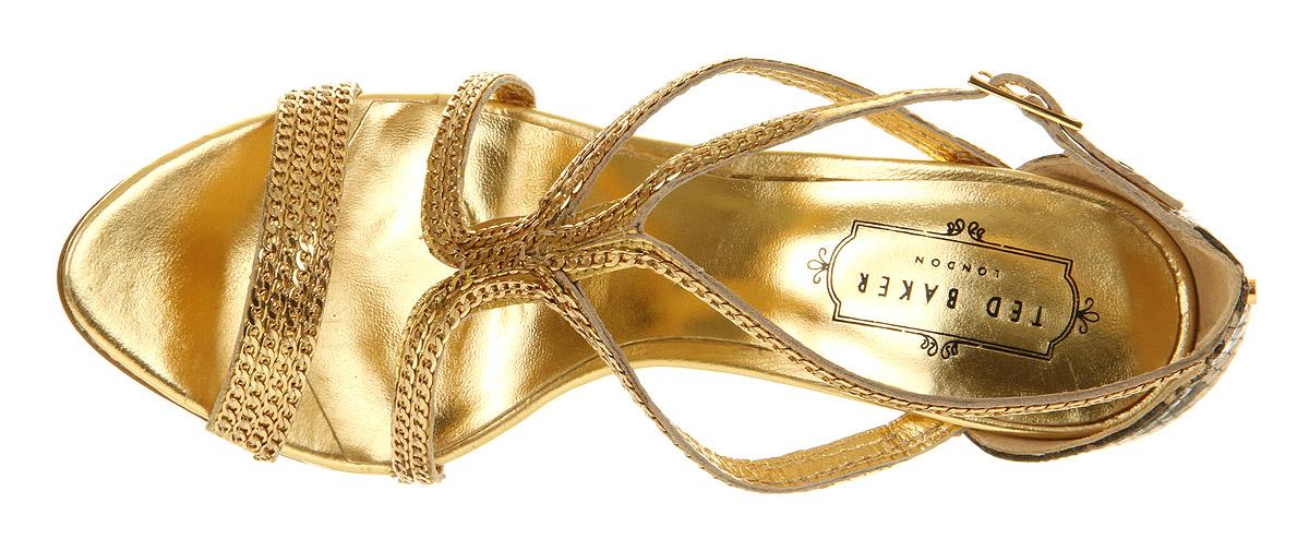 ted baker tilbey high heel sandal in metallic lyst. Black Bedroom Furniture Sets. Home Design Ideas
