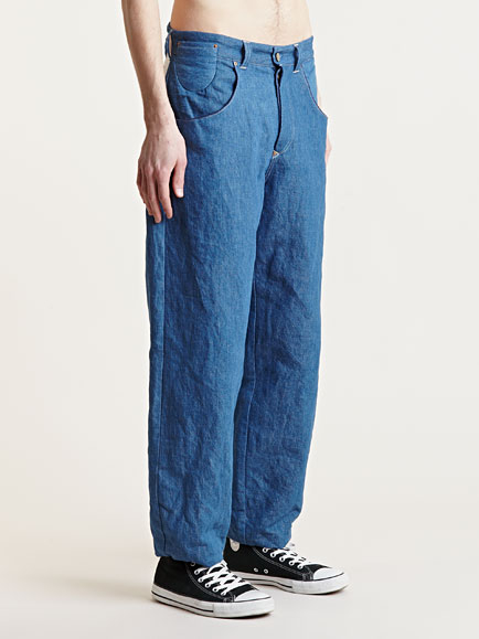 Levis Red Denim Mens Bagged High Waisted Indigo Jeans In