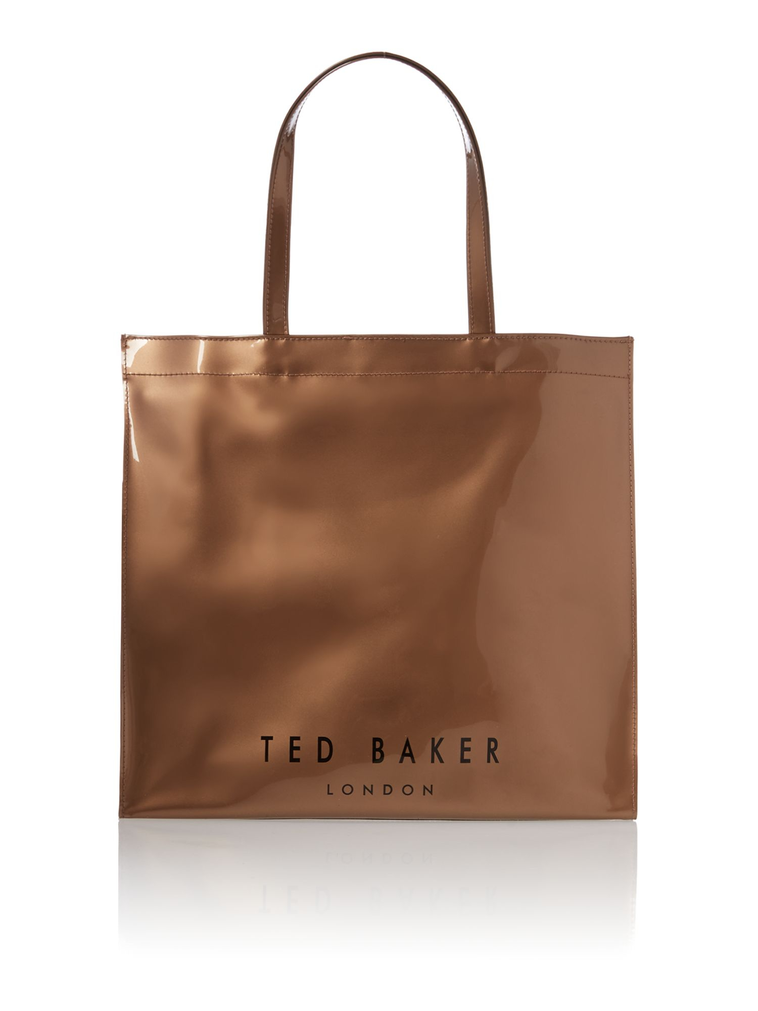 ted baker rose gold large bowcon tote bag in gold rose 20gold