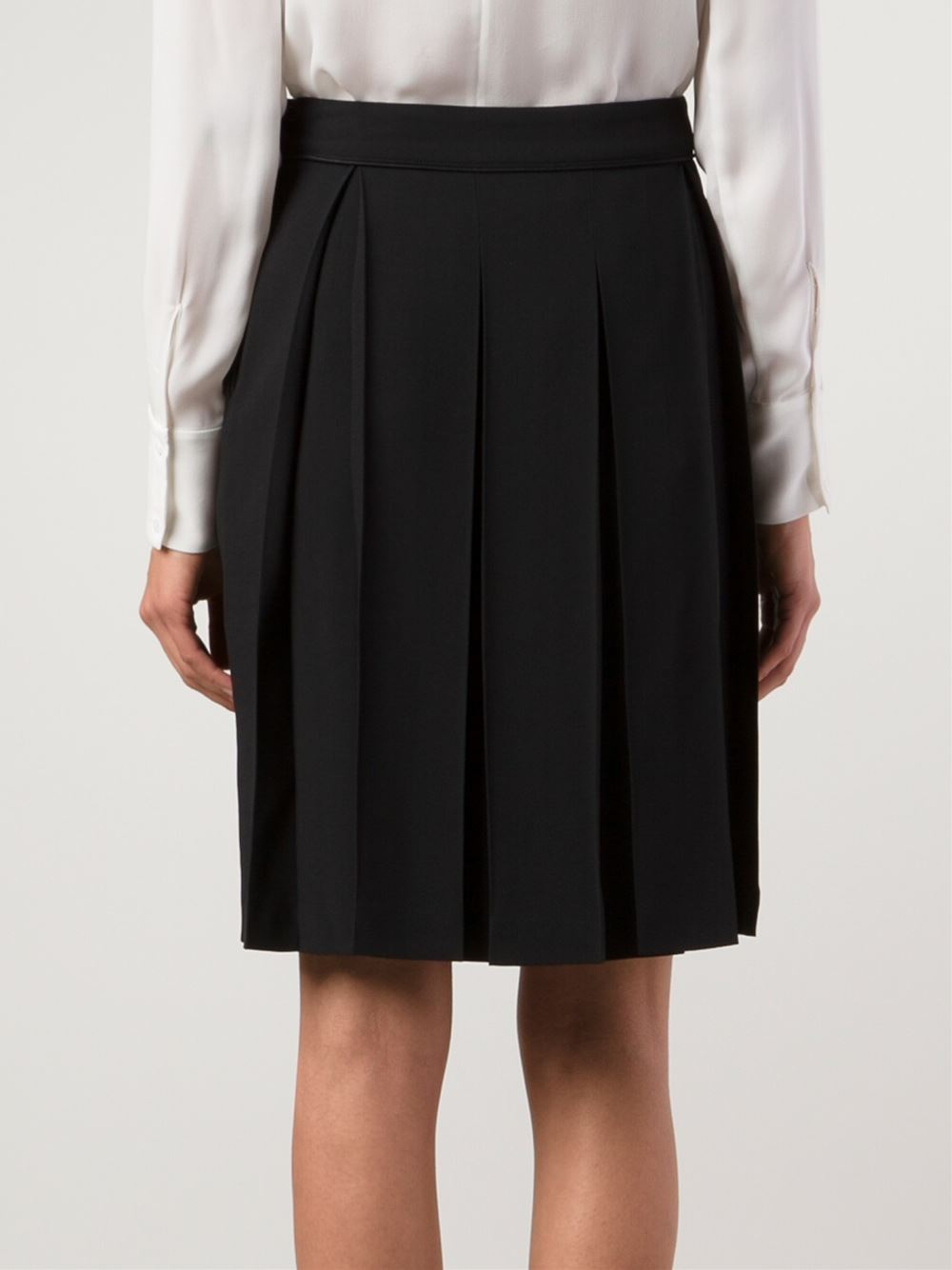 chalayan box pleat skirt in black lyst