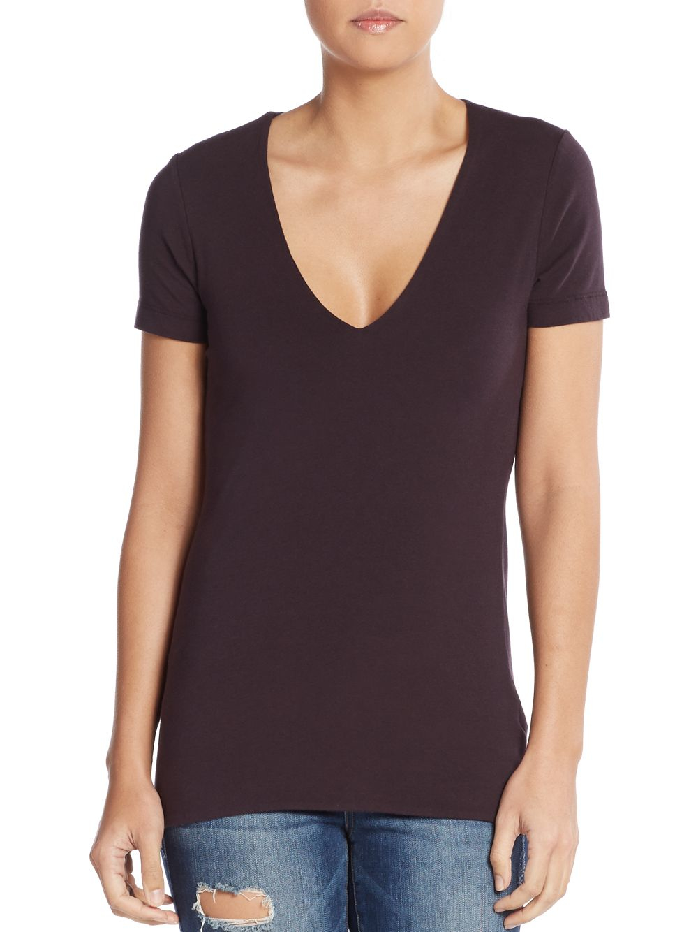 The versatile women's v neck t shirts are tailored for lasting wear after every wash. The women v neck t shirts from Old Navy offer simple yet impacting wardrobe staples that make looking wonderful a cinch. Shipping is on us! FREE on orders of $50 or more. FREE Returns on .