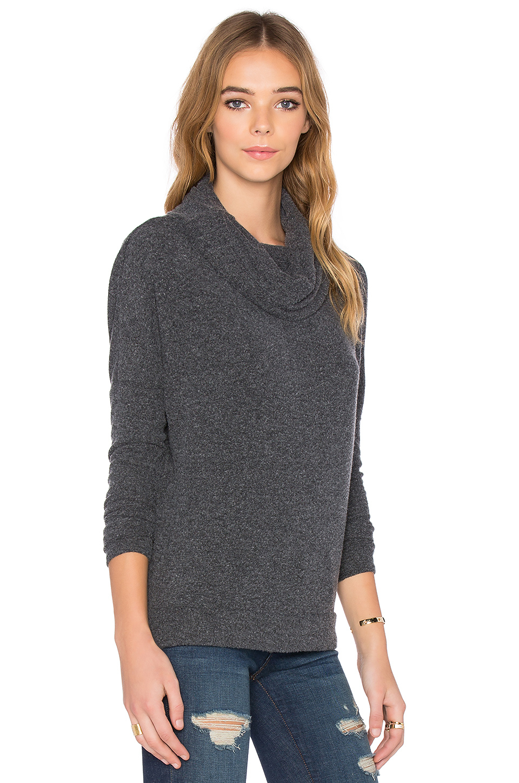 Chaser Drape Back Cowl Neck Dolman Sweater in Black | Lyst