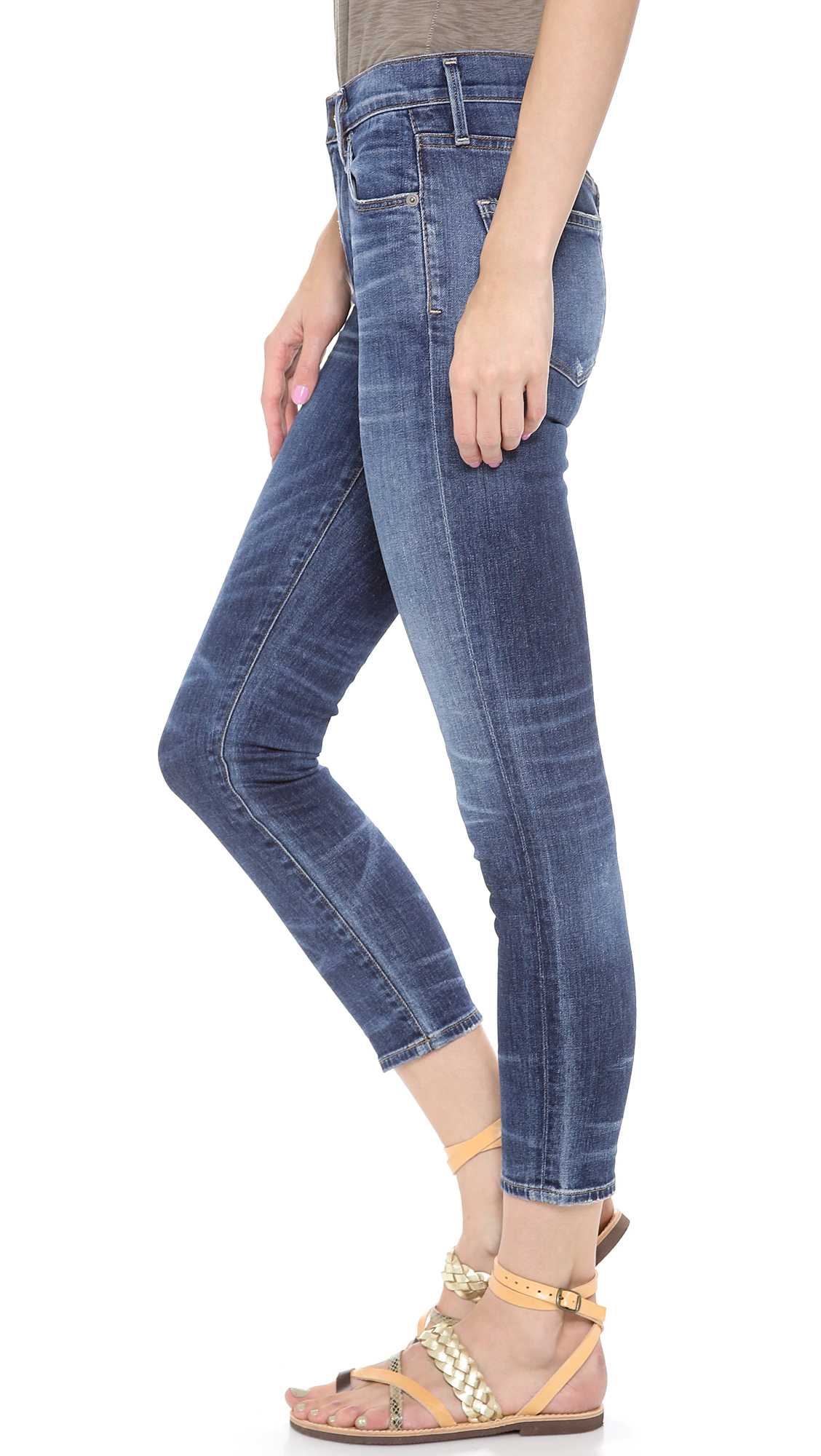 Citizens of humanity The Rocket Crop Jeans in Blue | Lyst