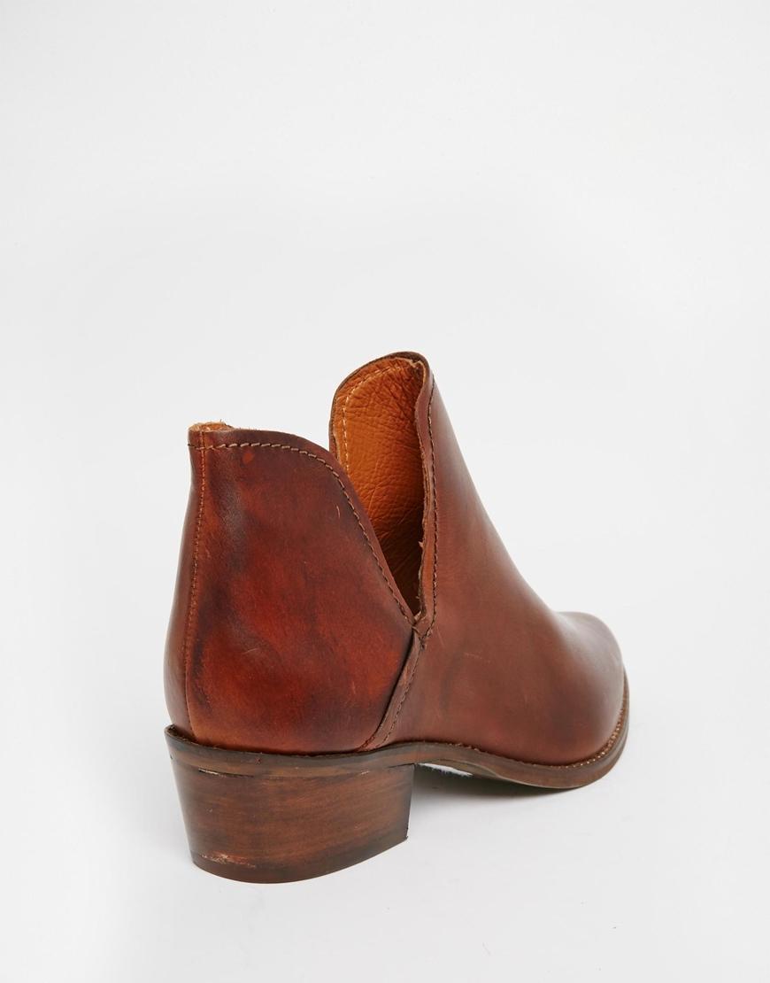 072aa1be747 Steve Madden Austyn Tan Cut Out Western Boots in Brown - Lyst