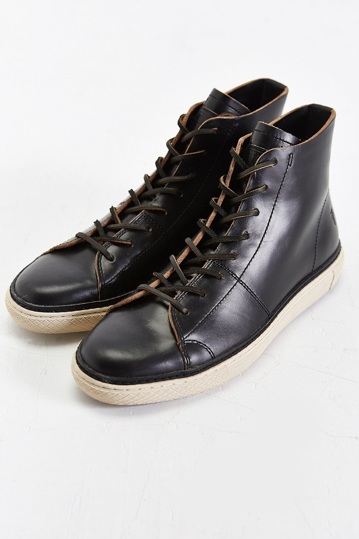 Frye Gates High-Top Shoe in Black for