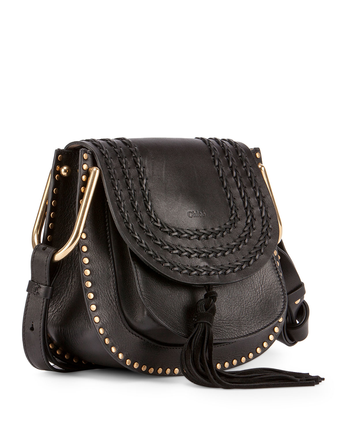 chloe knockoffs - Chlo�� Hudson Medium Leather Shoulder Bag in Black | Lyst