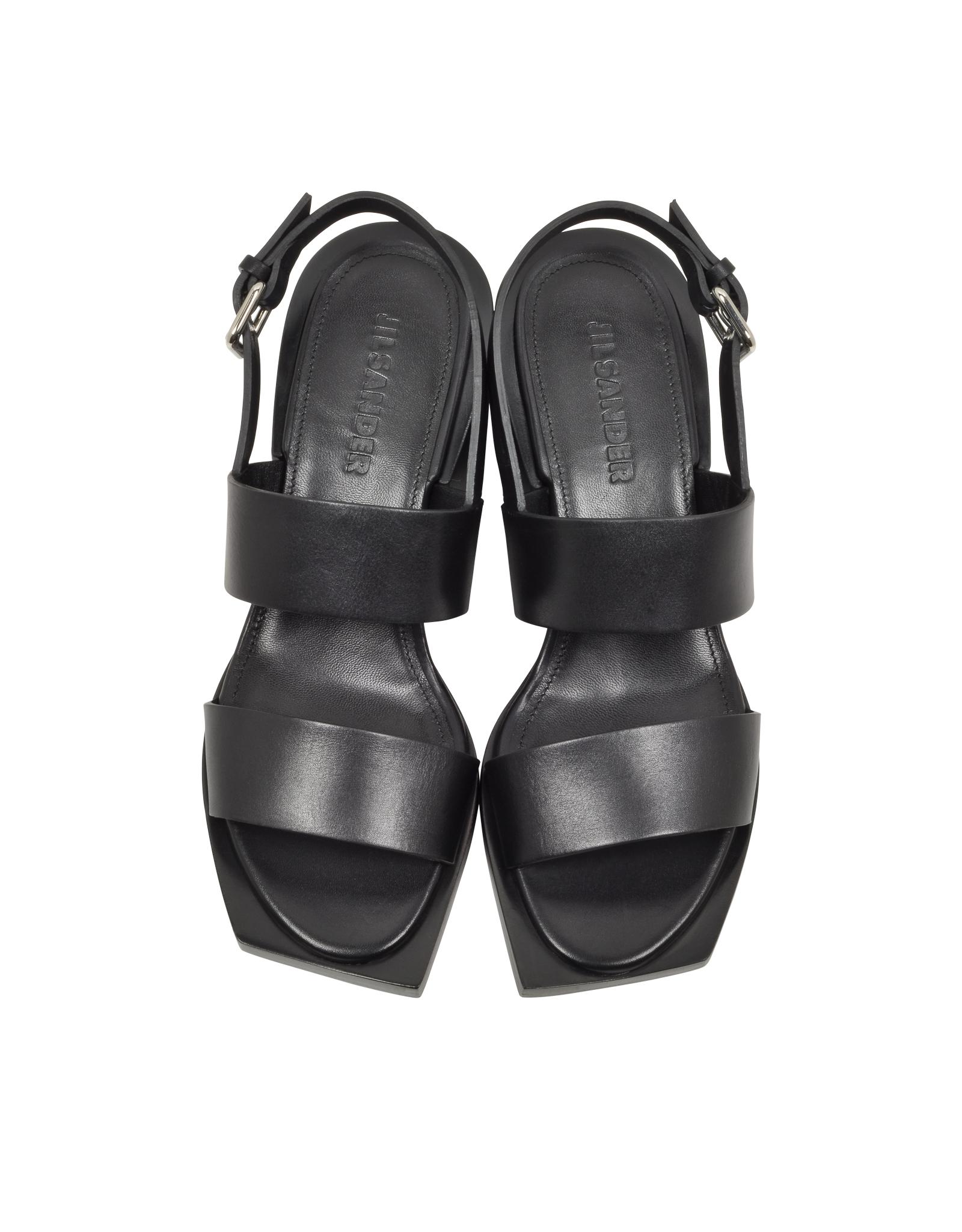 Jil Sander Studded Leather Sandals affordable outlet affordable free shipping store W7wjml