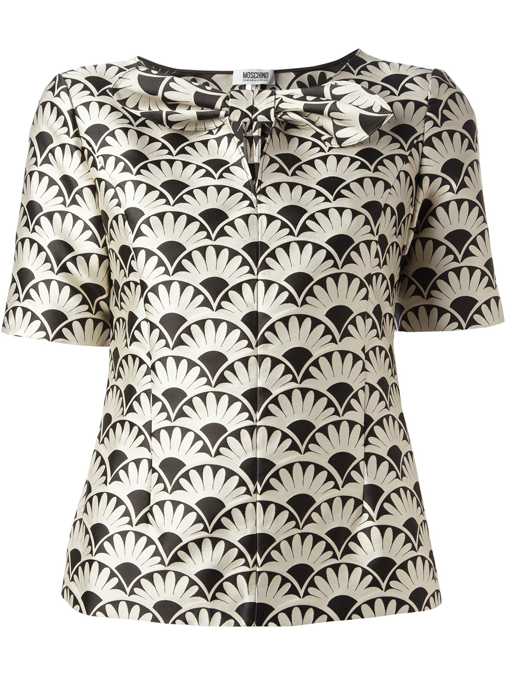 28040f483b3e5 Boutique Moschino Patterned Blouse in Black - Lyst