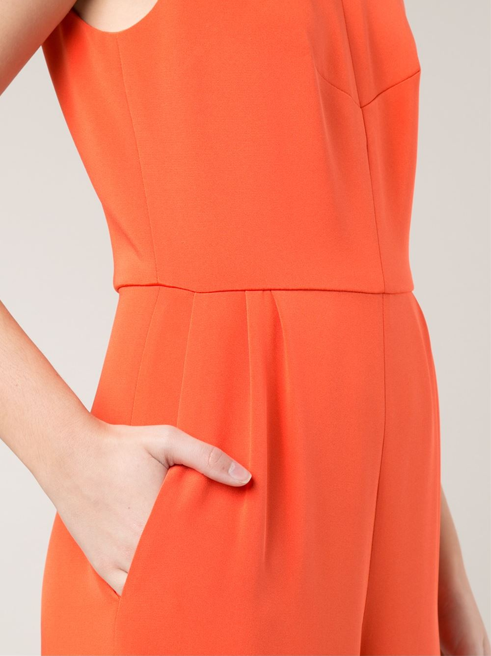 Lyst Novis Wide Leg Jumpsuit In Orange