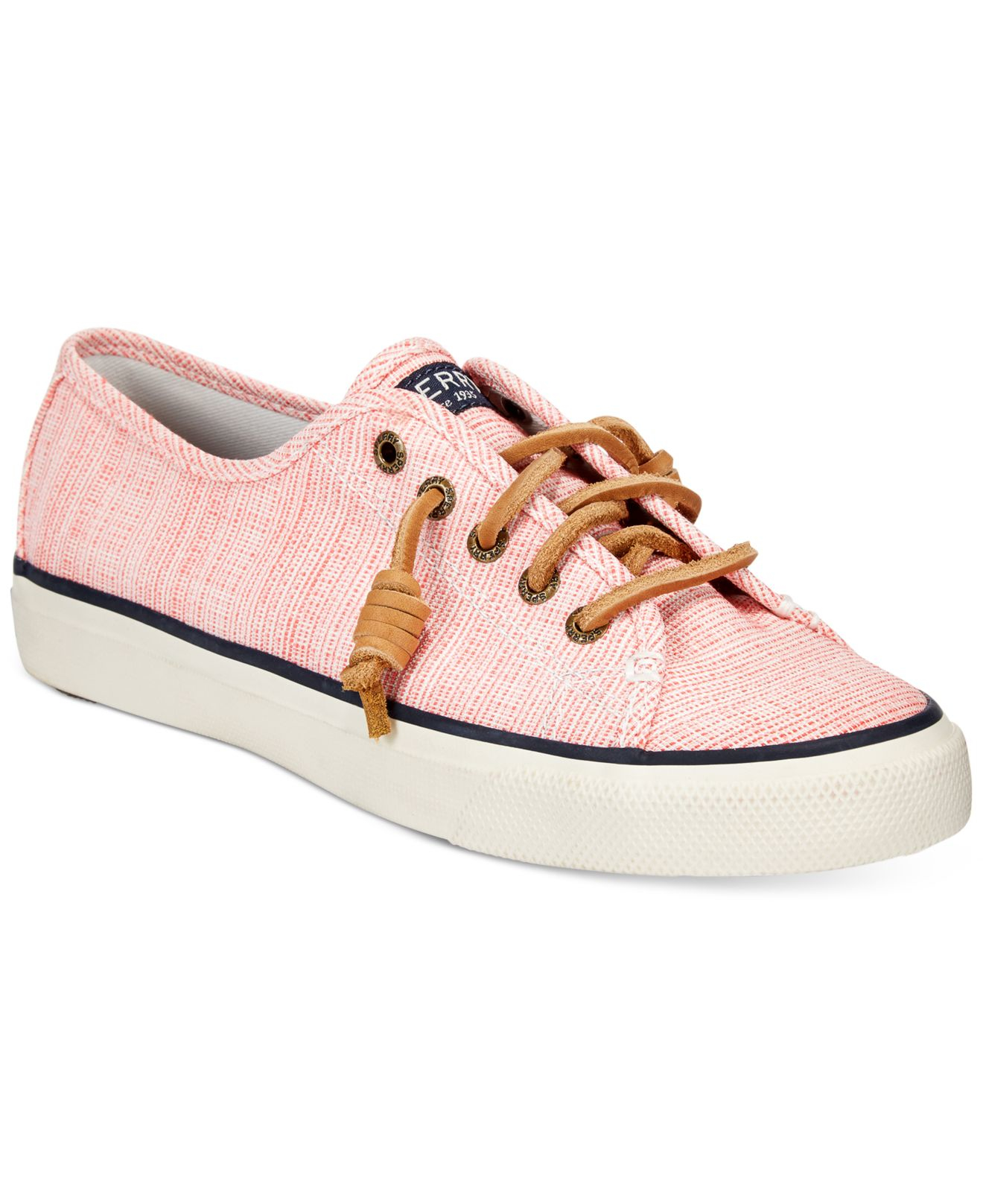 Lyst Sperry Top Sider Women s Seacoast Canvas Sneakers in Pink