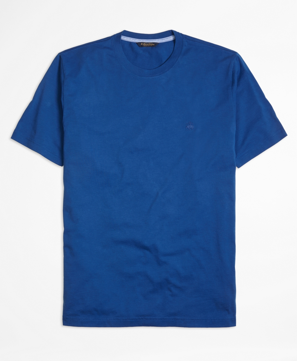 Brooks brothers supima cotton tee shirt in blue for men for Supima cotton dress shirts