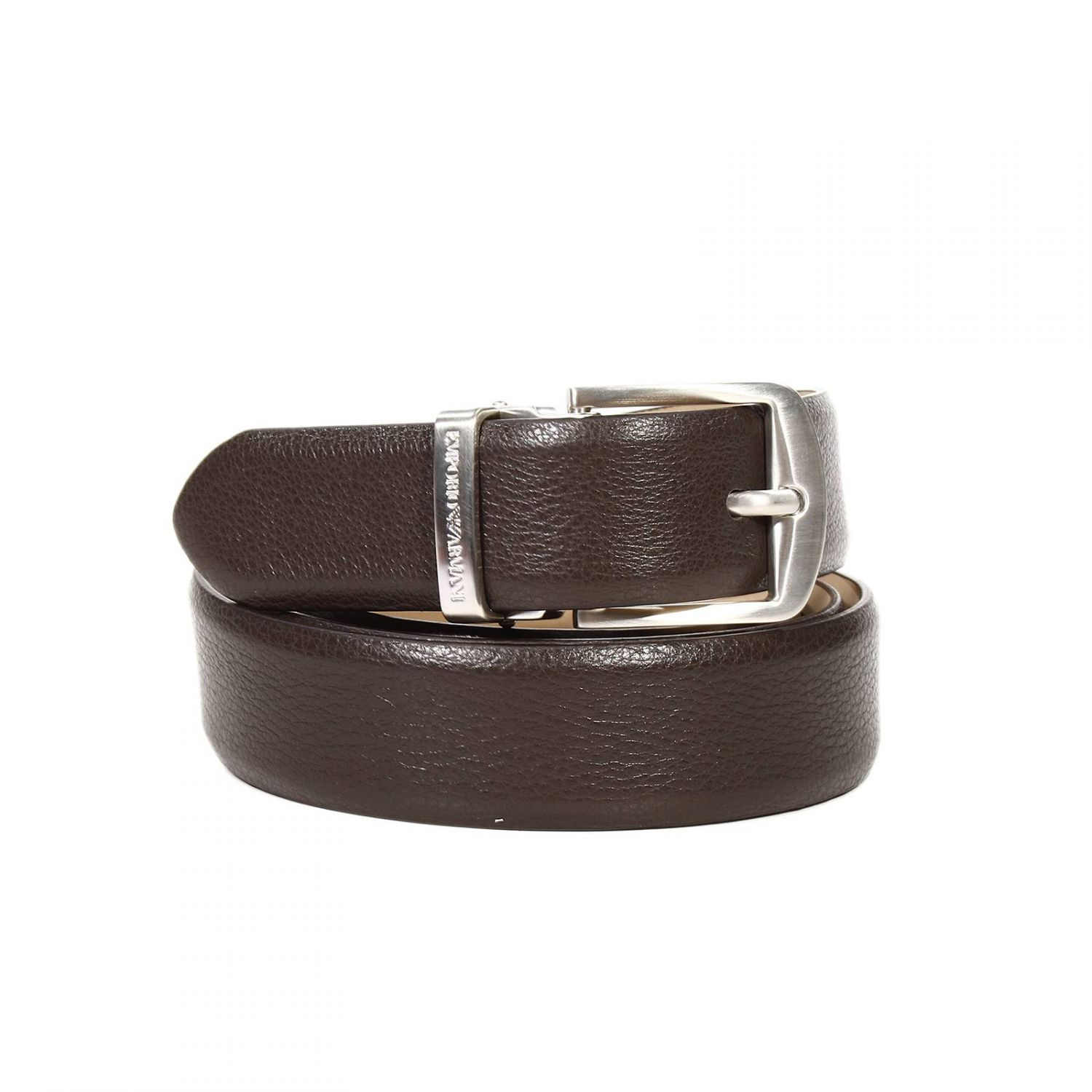 Giorgio armani Belt Classic Buckle Leather in Brown for ...