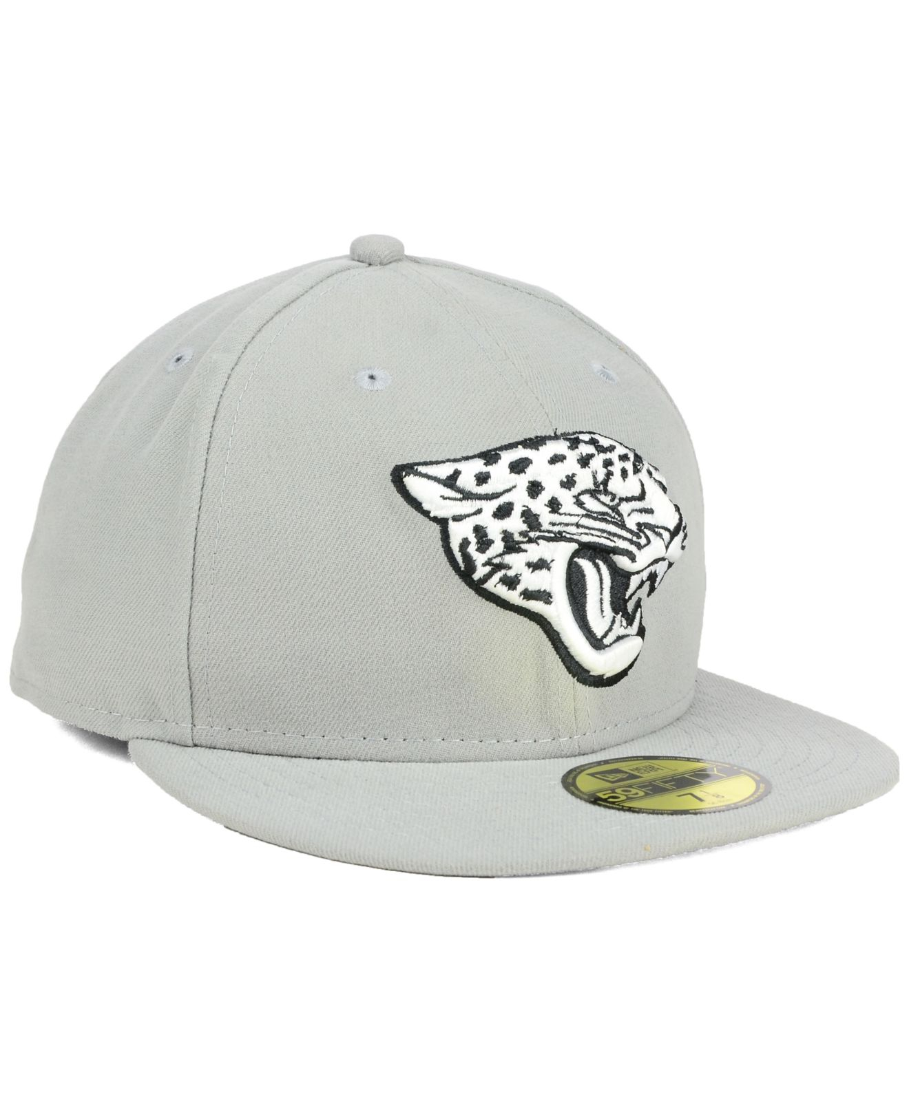 ktz jacksonville jaguars gray bw 59fifty cap in gray lyst. Black Bedroom Furniture Sets. Home Design Ideas