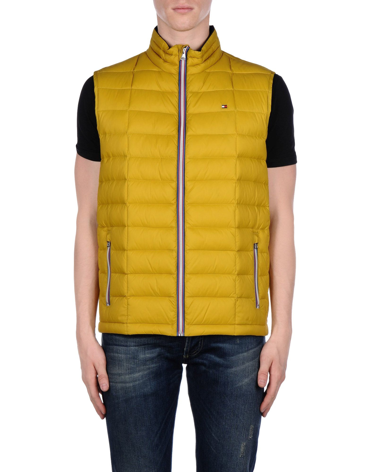Lyst Tommy Hilfiger Down Jacket In Yellow For Men