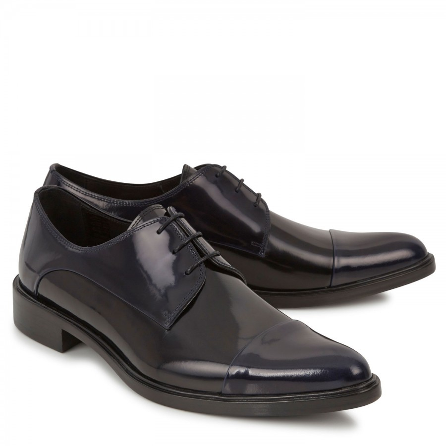 givenchy two tone patent leather shoes in black for lyst