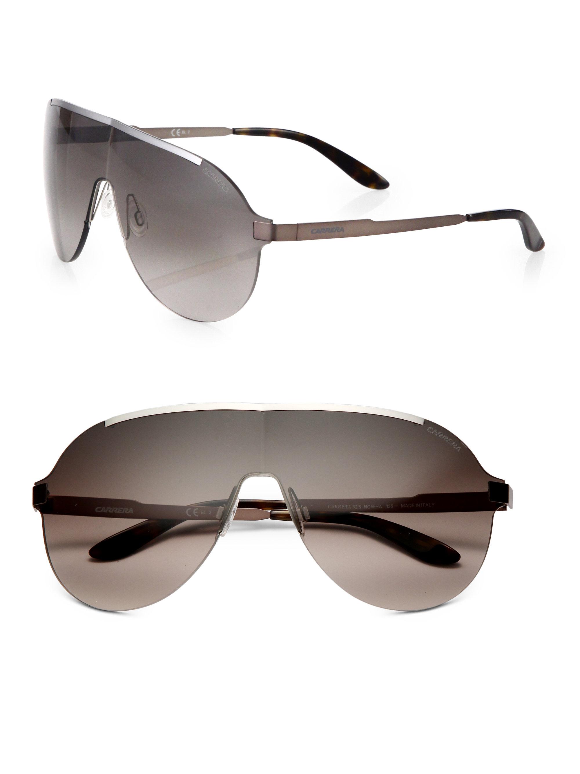 Rimless Aviator Sunglasses : Carrera Rimless Metal Aviator Sunglasses in Gray for Men ...