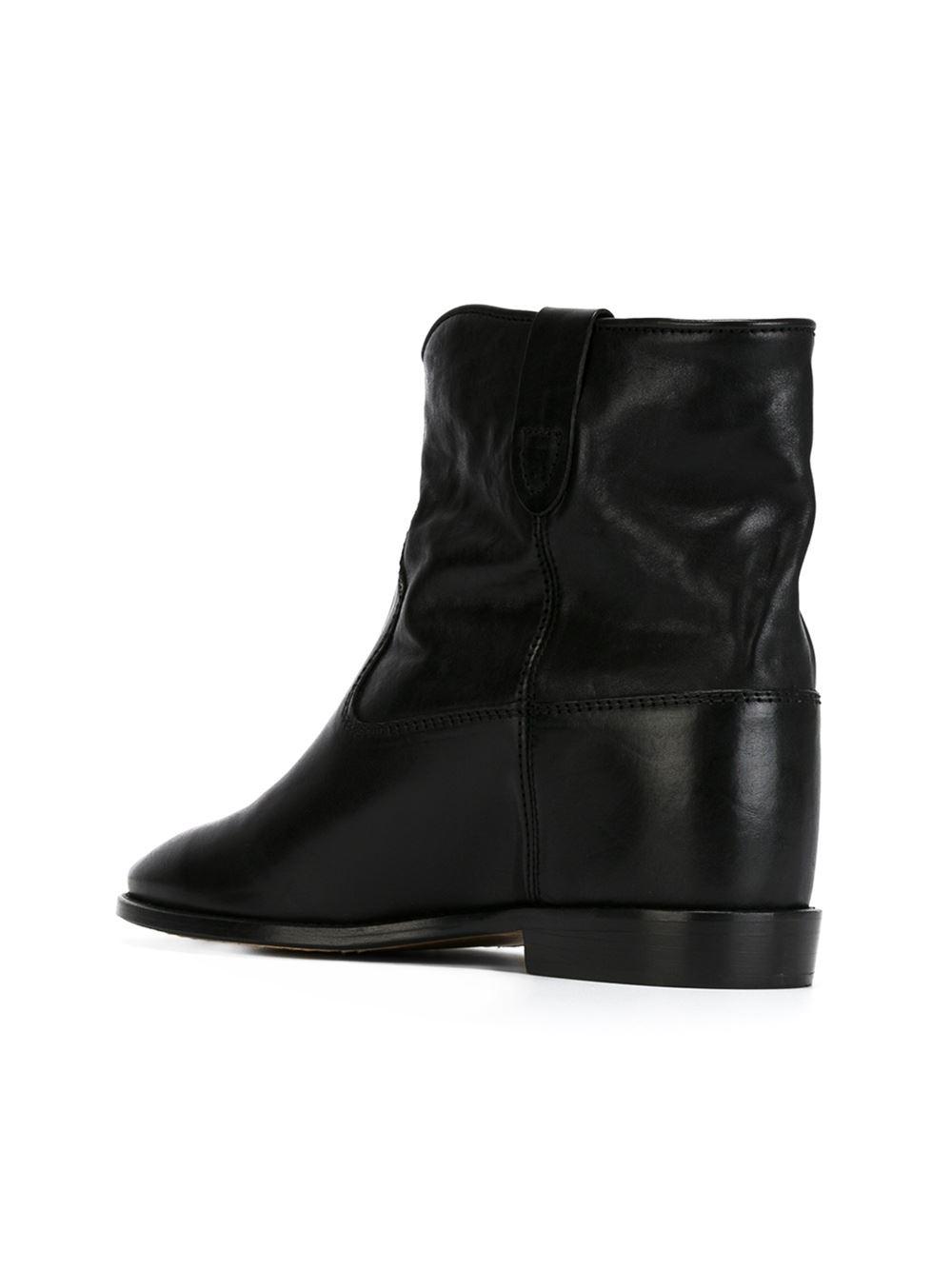 isabel marant toile 39 cluster 39 boots in black lyst. Black Bedroom Furniture Sets. Home Design Ideas