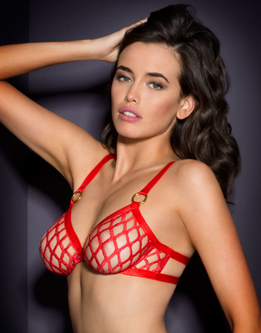 Agent Provocateur Bubbles Bra Red In Red Lyst
