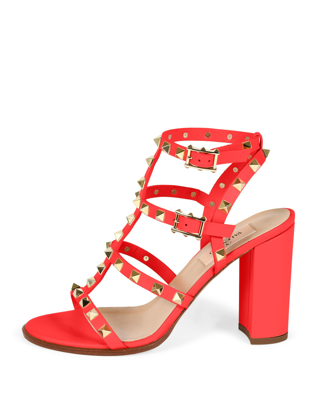 Valentino Rockstud Leather Sandals in