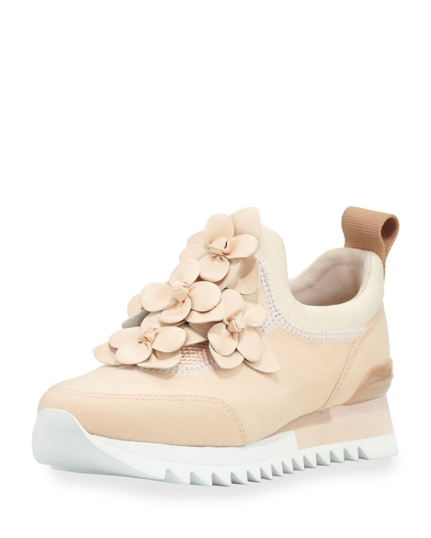 75289110110c Lyst - Tory Burch Blossom Neoprene Sneaker in Pink