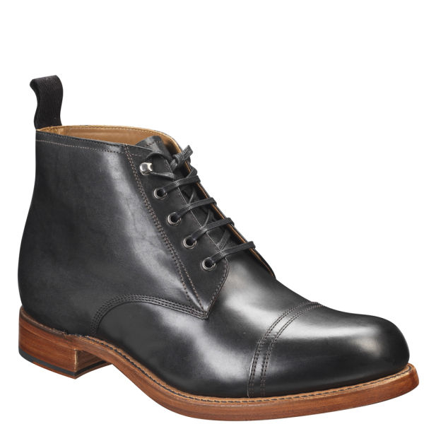 foot the coacher mens lace up boots in black for