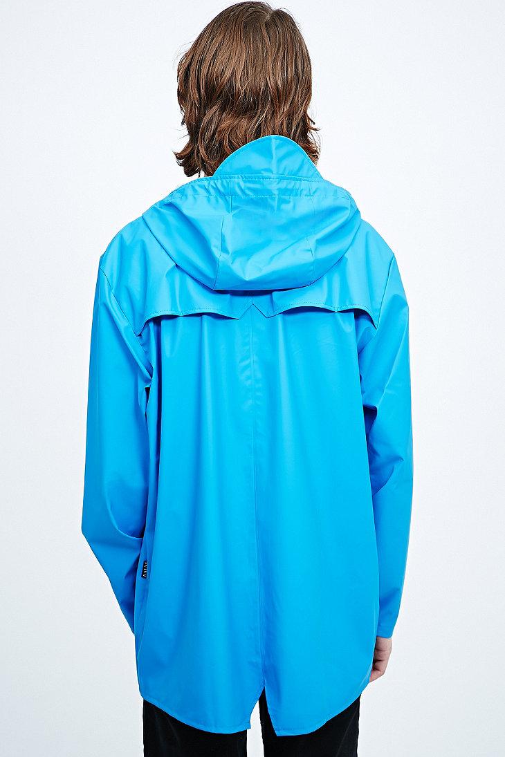 Rains Jacket in Sky Blue for Men