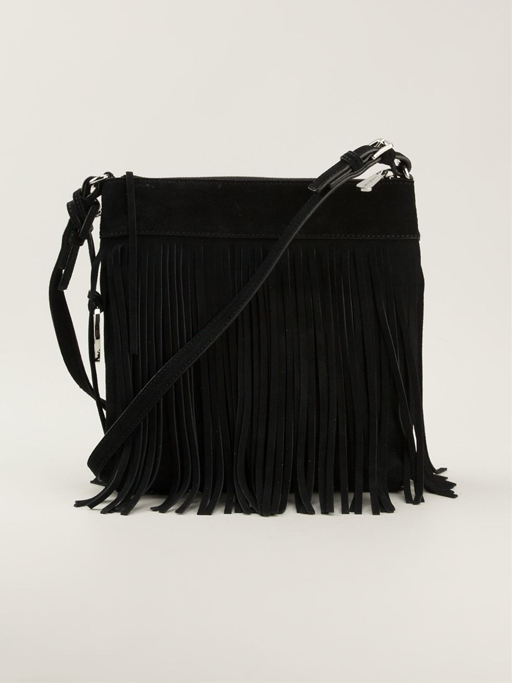 1f22750f4e MICHAEL Michael Kors Small Billy Messenger Bag in Black - Lyst