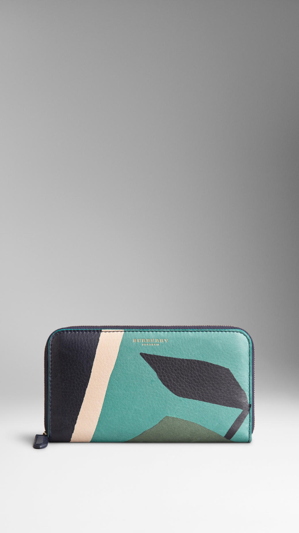 Book Cover Pictures Zip : Burberry book cover print leather ziparound wallet in gray