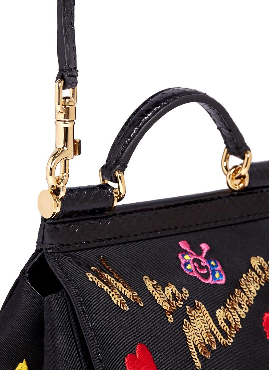 La Crossbody Sicily Viva Mama' Dolceamp; Bag Gabbana 'miss Mini Lyst T1lc3KJF