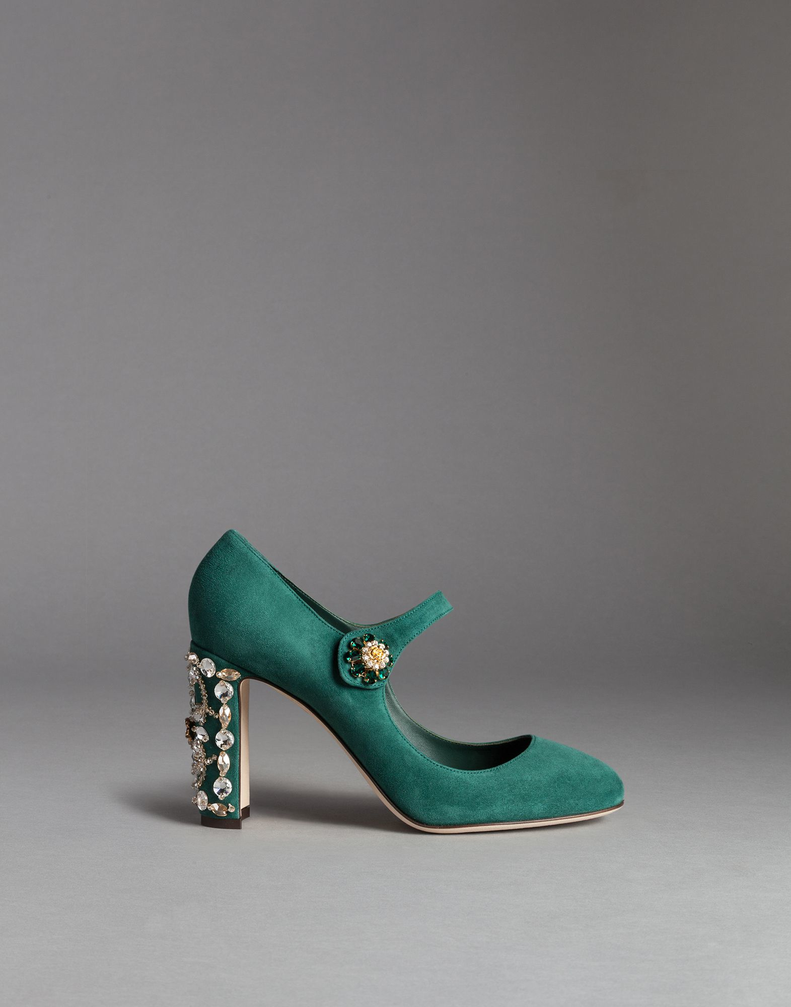 Dolce \u0026 Gabbana Suede Vally Mary Janes