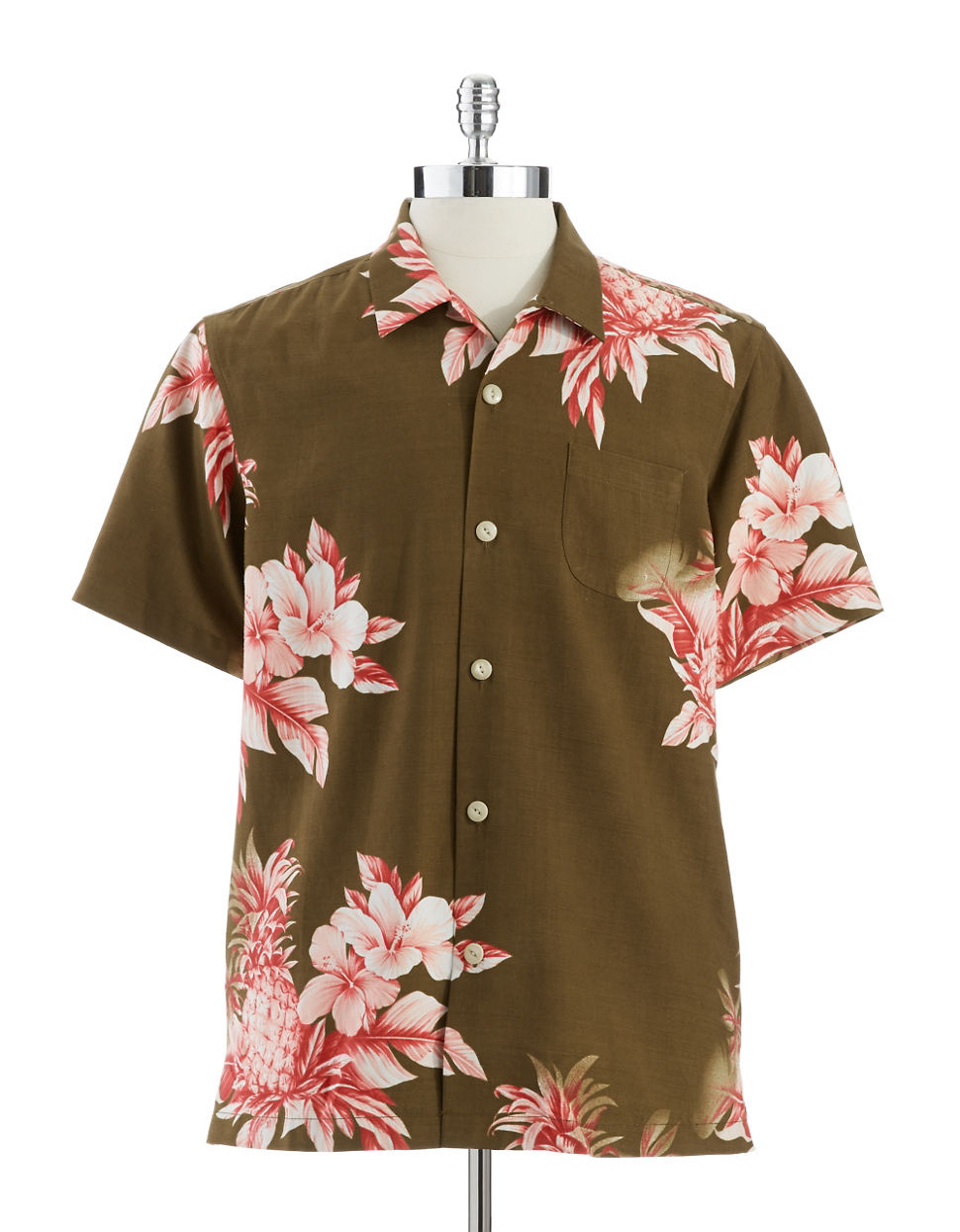 Tommy bahama pina colada pineapple buttondown shirt in for Tommy bahama christmas shirt 2014