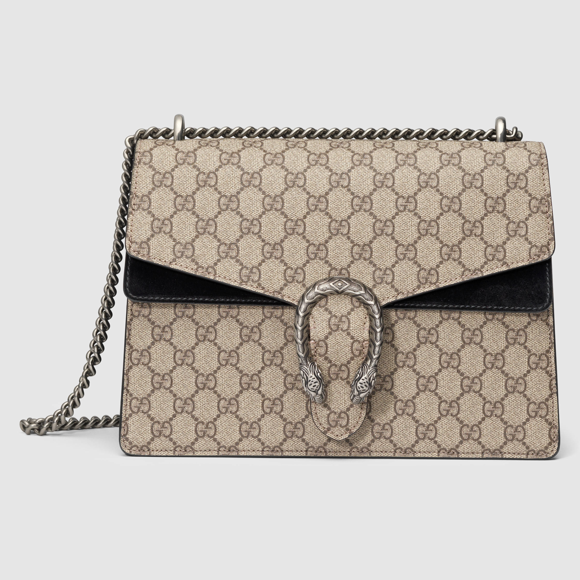 Gucci Dionysus GG Supreme Shoulder Bag In Gray Lyst