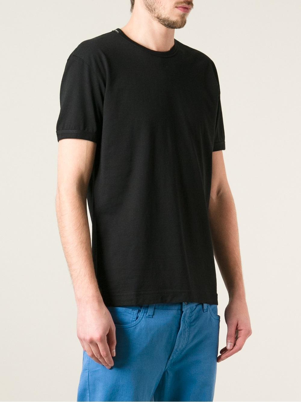 Dolce & Gabbana Crew Neck Tshirt in Black for Men