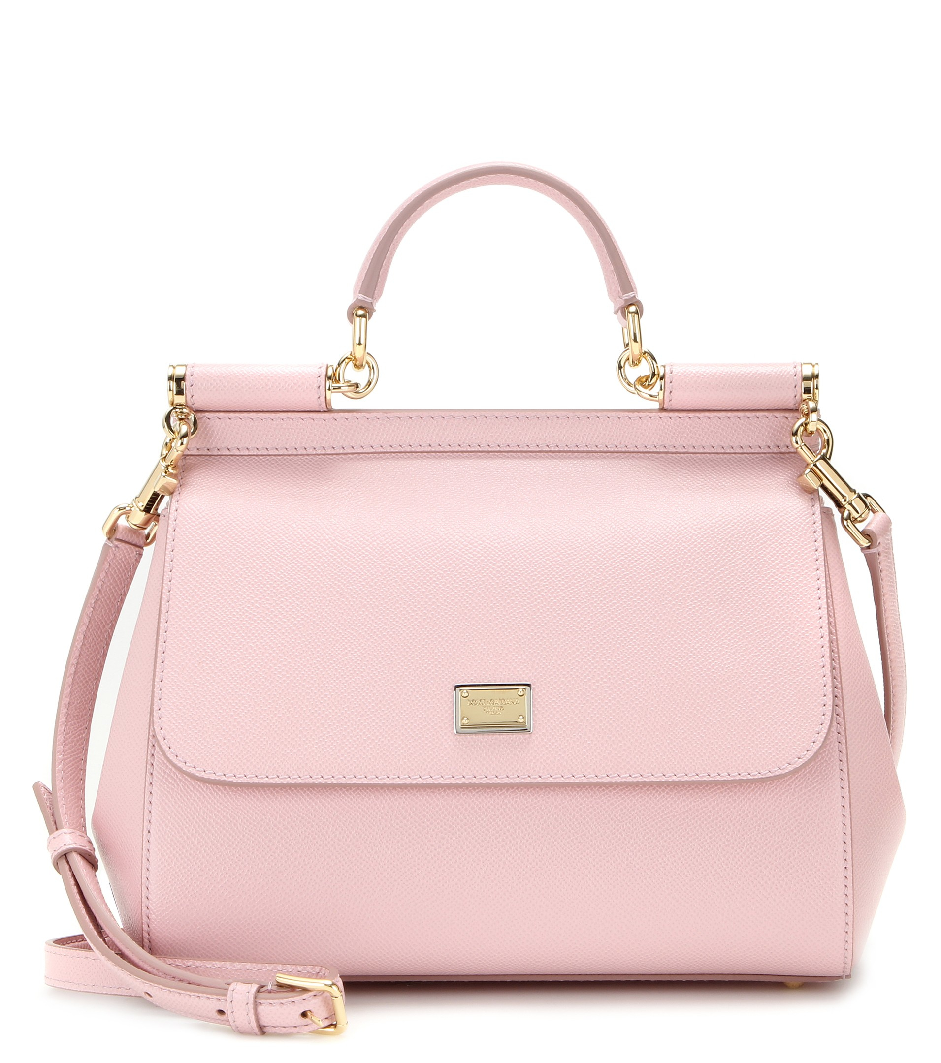 Lyst - Dolce   Gabbana Miss Sicily Medium Leather Shoulder Bag in Pink a2d8d5851aeeb