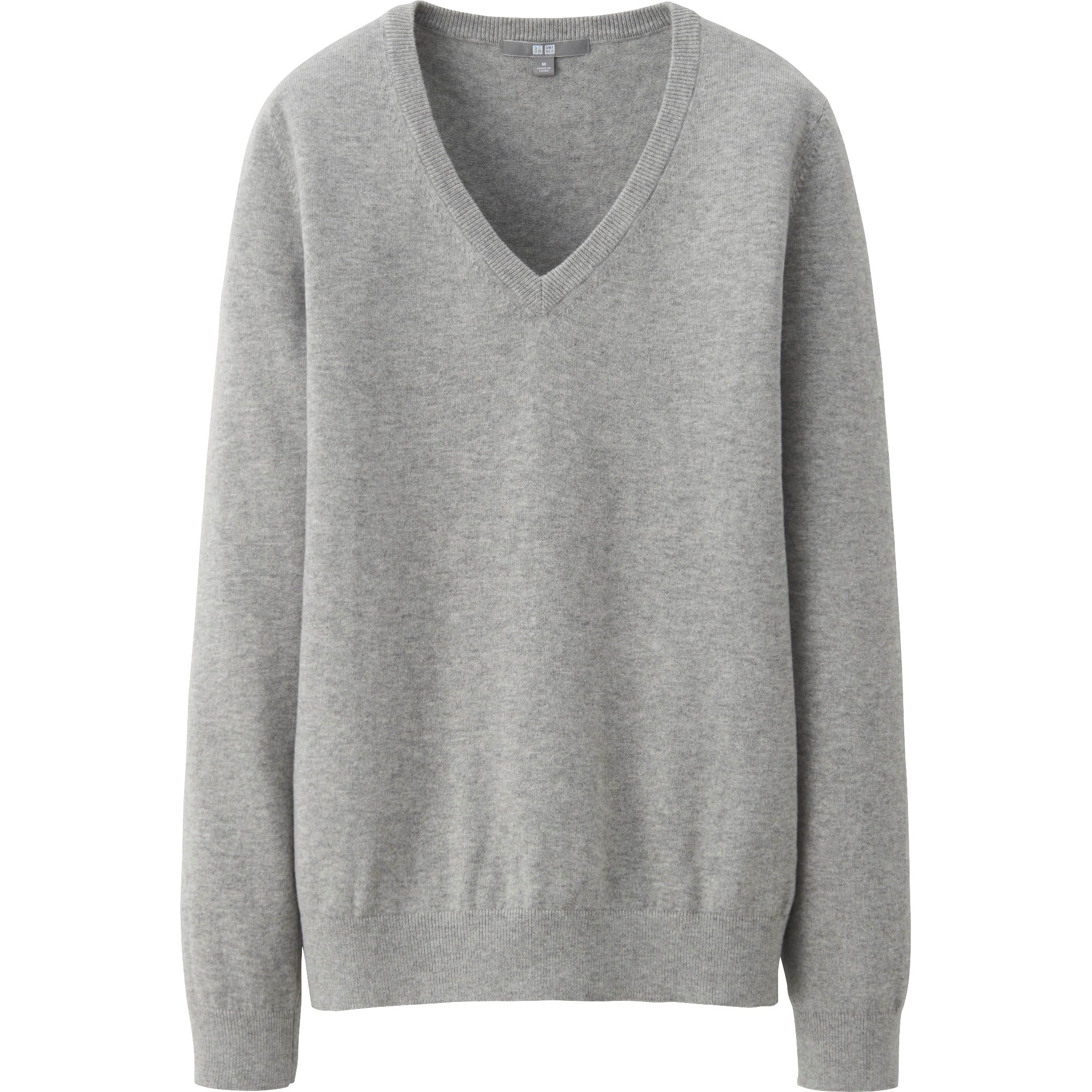 Grey Cotton Sweater For Women - Cashmere Sweater England