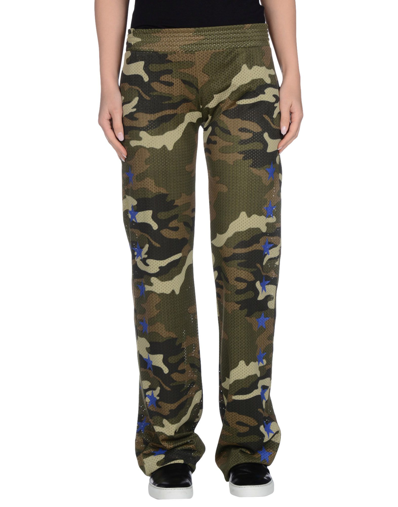 Model Womens Army Military Green Camouflage Skinny Slim Stretch Jeans Pants