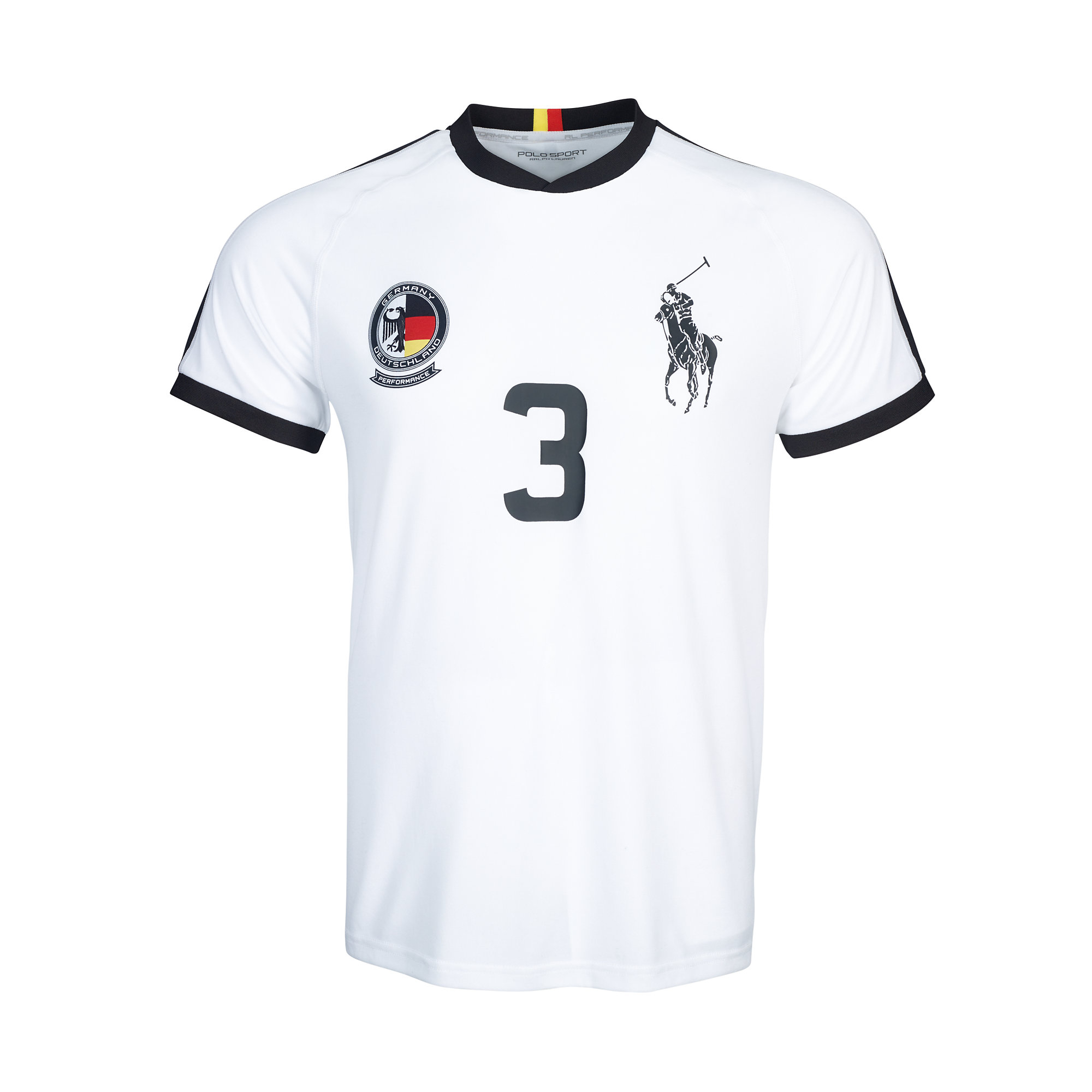 lyst ralph lauren germany jersey t shirt in white for men. Black Bedroom Furniture Sets. Home Design Ideas